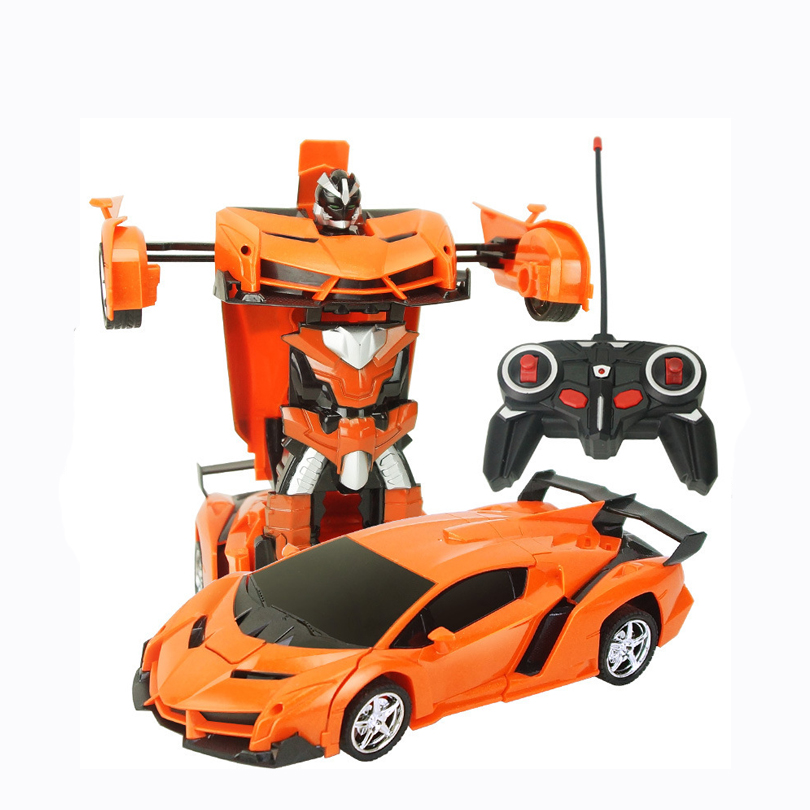 Image 2 - 2In1 RC Car Sports Car Transformation Robots Models Remote Control Deformation Car RC fighting toy KidsChildren's Birthday GiFT-in RC Cars from Toys & Hobbies