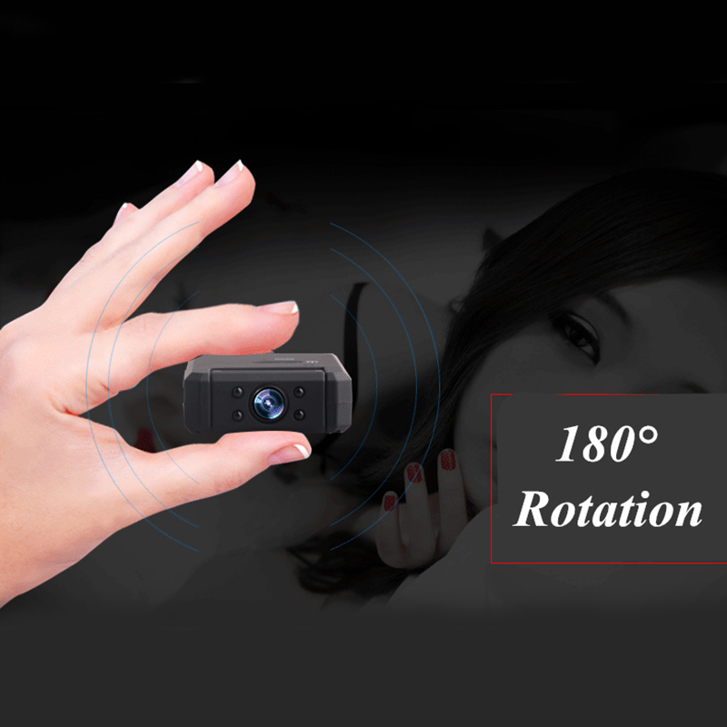 MD90 1080P Mini Wireless Camera Body Camera Video Recorder with Motion Detection and Night Vision for Home Security Cam
