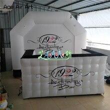 Прочный Подгонянный надувной киоск будка, рекламный бар палатка, Арка логотип задней земли DJ стены с печатью для Франции