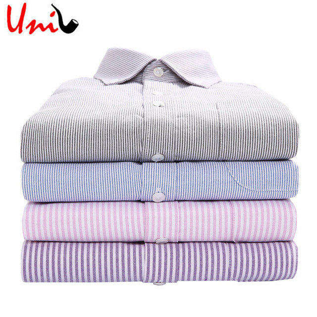 2016 New Oxford Men Shirts Solid Color Long Sleeve Button Down Collar Camisa Slim Fit Men Dress Business&Casual Shirt YN545