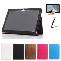 PU Leather Book Cover Stand Case For Digma Plane 9507M 9 6 Tablet Screen Protective Film