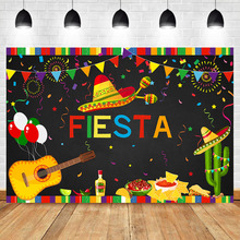 Birthday Party Photography Background Mexican Fiesta Theme Banner Photo Backdrop Event Decoration Supplies