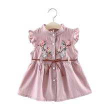 Baby Girl Clothes Floral Dress Sleeveless