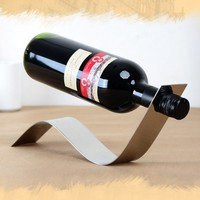 Creative Wine Rack Show Kitchen Stainless Steel Furniture Fittings Free Shipping Art Make Taste