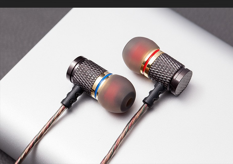 QKZ DM6 Earphones Enthusiast bass In-Ear Earphone Copper Forging 7MM Shocking Anti-noise Microphone Sound Quality fone de ouvido 15