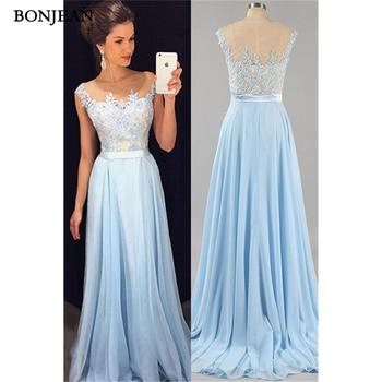 Fashion Evening Dresse A-Line Appliques Prom Dresss Floor Length Backless Evening Gowns Custom Made Vestido de noche