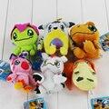 6 estilos De Pelúcia Digimon Patamon Agumon Yagami Taichi pingente chaveiro Brinquedos Presentes Encantadores