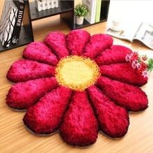 90 см диаметр 3D цветок ковры для гостиной Европейский Свадебный спальня коврики и ковры напольный коврик для гардероба стул коврики