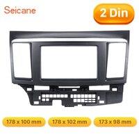 Seicane Double Din Black Color Car Radio Frame for 2010 Mitsubishi Fortis Lancer DVD Panel Dash Kit wonderful Fascia Panel