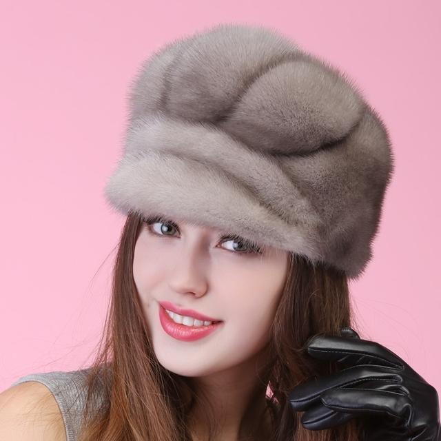 2015 otoño invierno muy cálido por debajo de cero mostrar mujeres piel real encantador estilo de rusia vintage lady luxur sombrero de piel famosa banda caliente