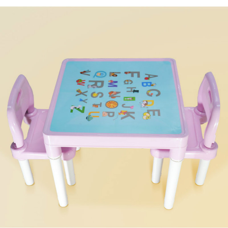 Children Tables 1pc Premium Plastic Diy Kinder Table And Chair Set With Colorful Alphabet Kinder Study Table Activity Fun Child Toy