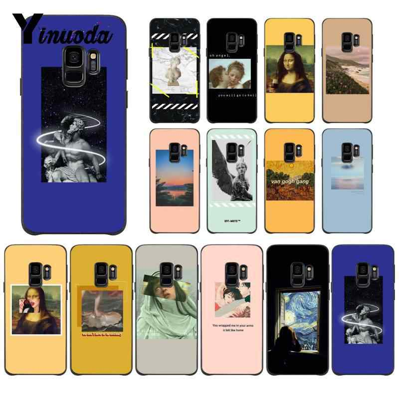 Yinuoda Great art aesthetic van Gogh Mona Lisa TPU Phone Case Cover for Samsung Galaxy S6 S7 edge S6 edge plus S5 S9 Plus case
