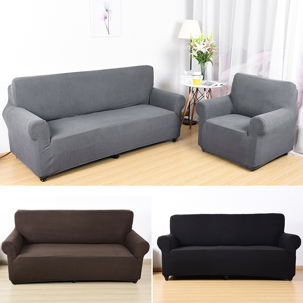 Flexible Stretch Sofa Cover For Living Room Elastic Plaid
