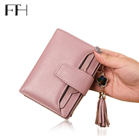 Fashion design Real Leather wallet women luxury brand tassel diamond pendant sexy Lady Coin Purse female Clutches card holders