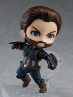 Captain America Steve Rogers Infinity War Iron Man 923 10CM Nendoroid PVC Action Figures Model Collectible Toys