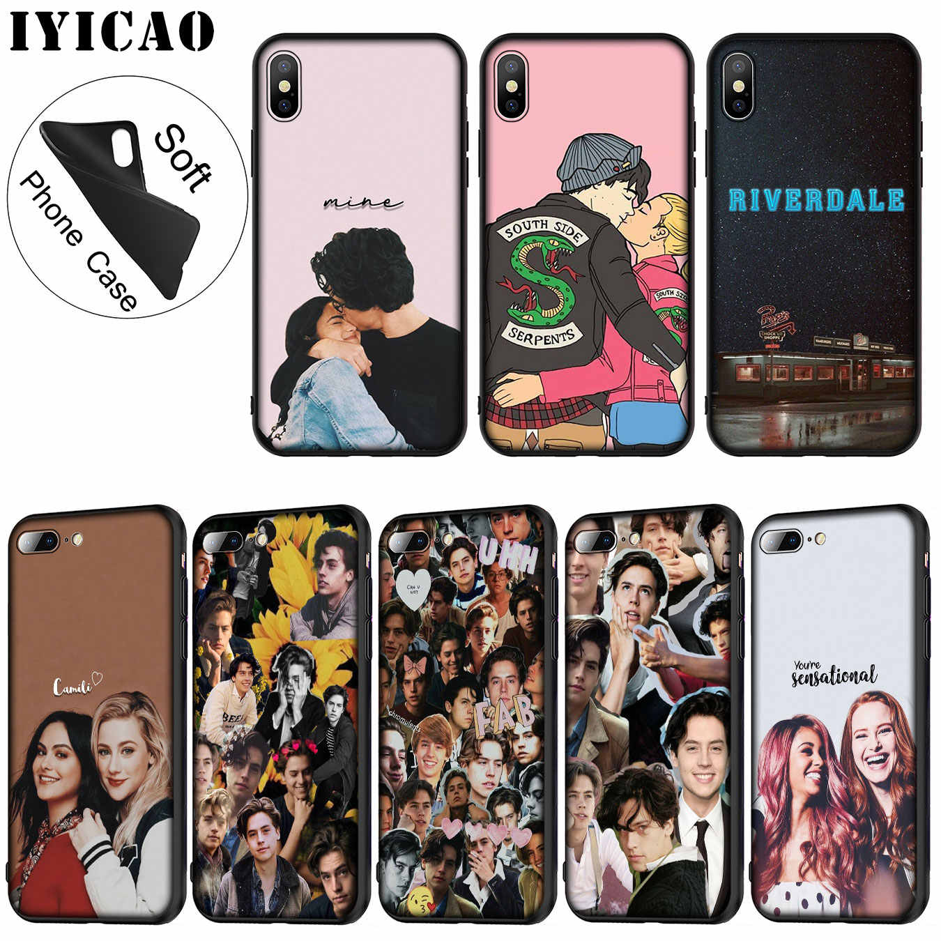 IYICAO riverdale choni Soft Silicone Phone Case for iPhone XR X XS 11 Pro Max 6 6S 7 8 Plus 5 5S SE 10 TPU Black Cover