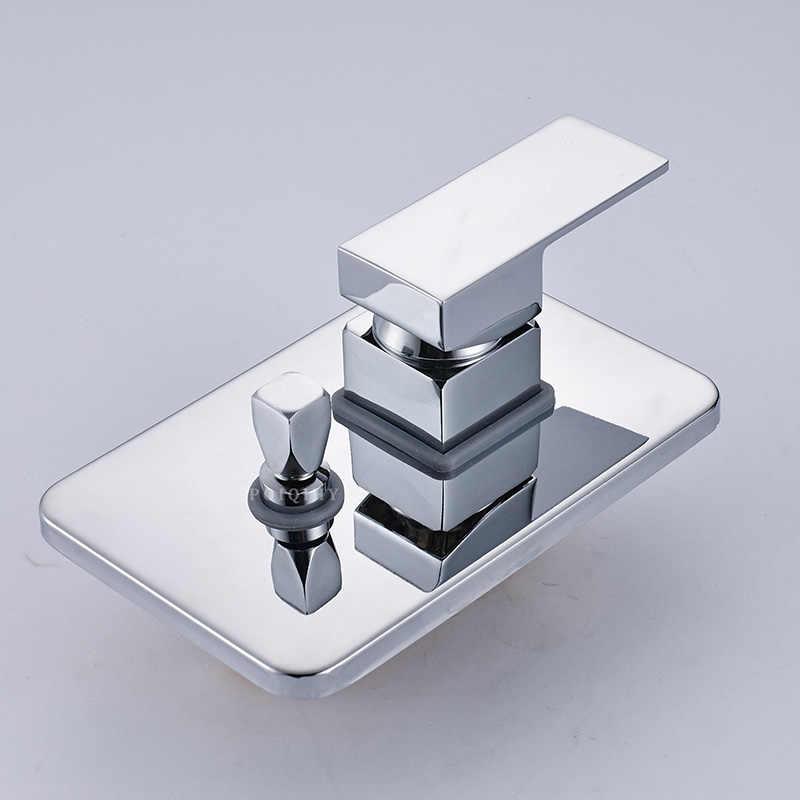2 yollu Duş Vana En Kaliteli Kare Duş Bataryası Musluk Kontrol Vanası Saptırıcı Duvara Monte