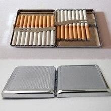 4 pçs em branco 20 caixa de cigarro caso de aço inoxidável tubo de tabaco armazenamento caixa de bolso titular acessível portátil diy frete grátis