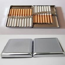 4Pcs 빈 20 담배 상자 케이스 스테인레스 스틸 담배 튜브 스토리지 포켓 박스 홀더 핸디 휴대용 DIY 무료 배송