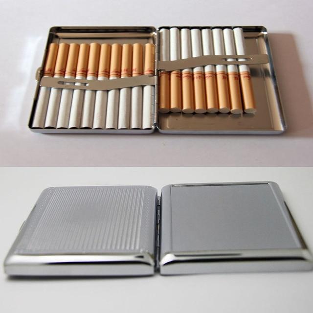 4Pcs  Blank 20 Cigarette Box Case Stainless Steel Tobacco Tube Storage Pocket Box Holder Handy Portable DIY  Free Shipping