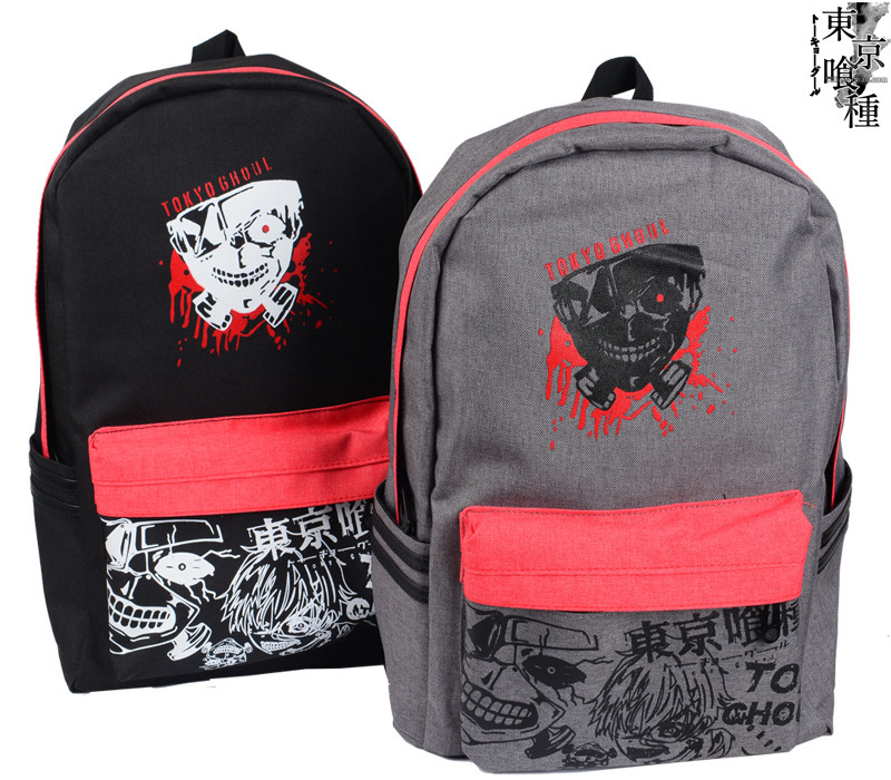 2015 new Tokyo ghoul Kaneki Ken black gray school bag backpack anime backpack AB127