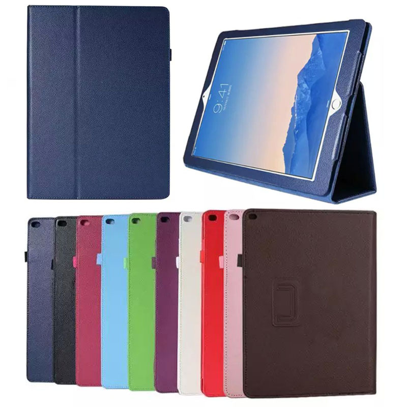 New folding Folio PU leather Stand Cover For Apple Ipad Pro 12.9 Case capa para