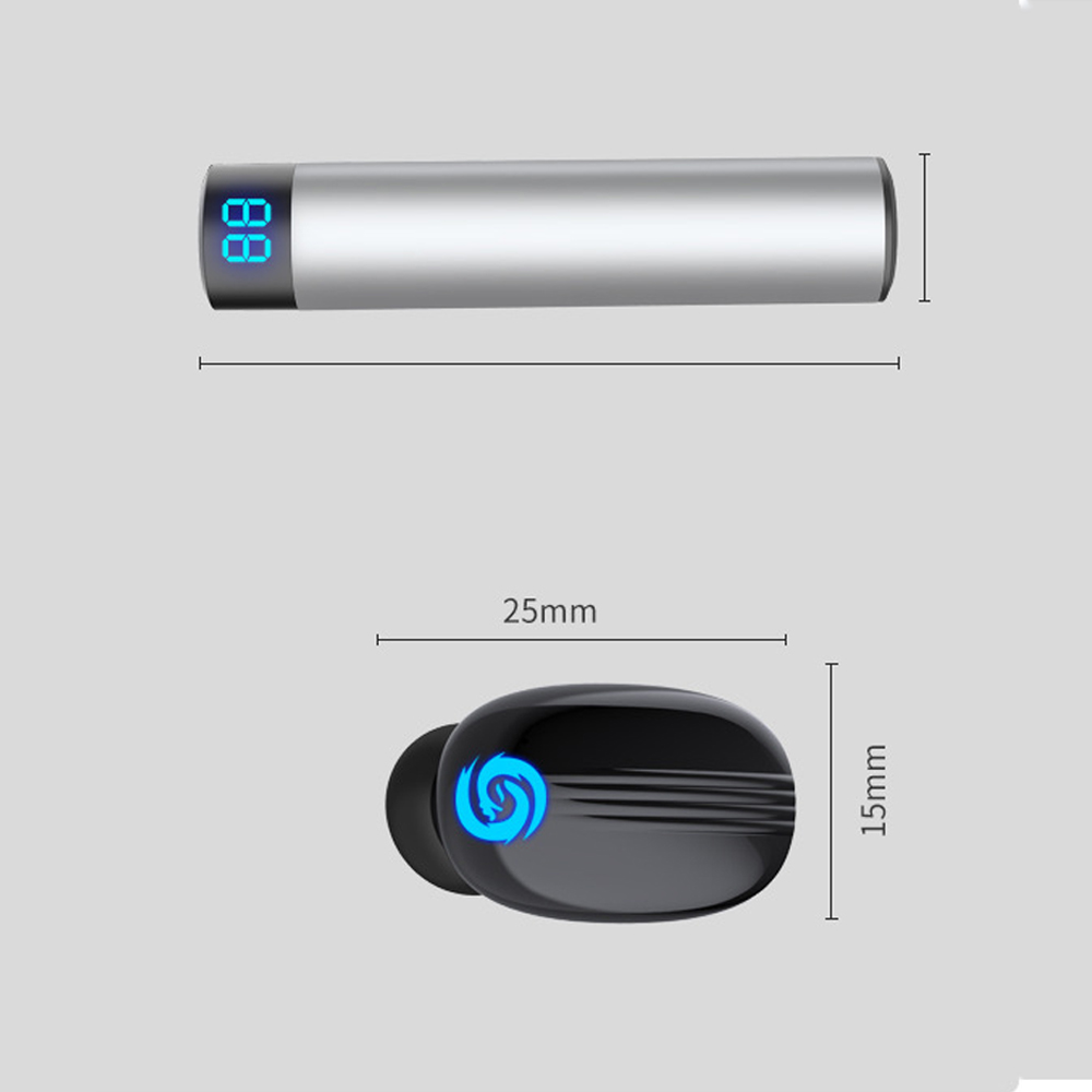 Image 5 - Touch 5.0 Bluetooth Headset Wireless Binaural Mini Invisible Sports Running Ultra Small In Ear Plugs Unisex Digital headphones-in Bluetooth Earphones & Headphones from Consumer Electronics