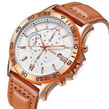Top luxury brand ochstin hombres deportes relojes del cuarzo de los hombres fecha reloj hombre militar del ejército del reloj del relogio masculino de cuero