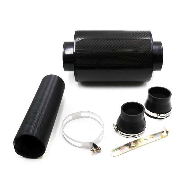 cnspeed high quality universal car carbon air filter air fibre intake system cold feed induction kit