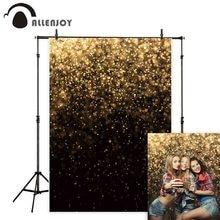 خلفية التصوير الفوتوغرافي للحفلات من Allenjoy خلفية ذهبية سوداء بوكيه براقة للتصوير الفوتوغرافي في الأستوديو دعائم التصوير ديكور فاخرة