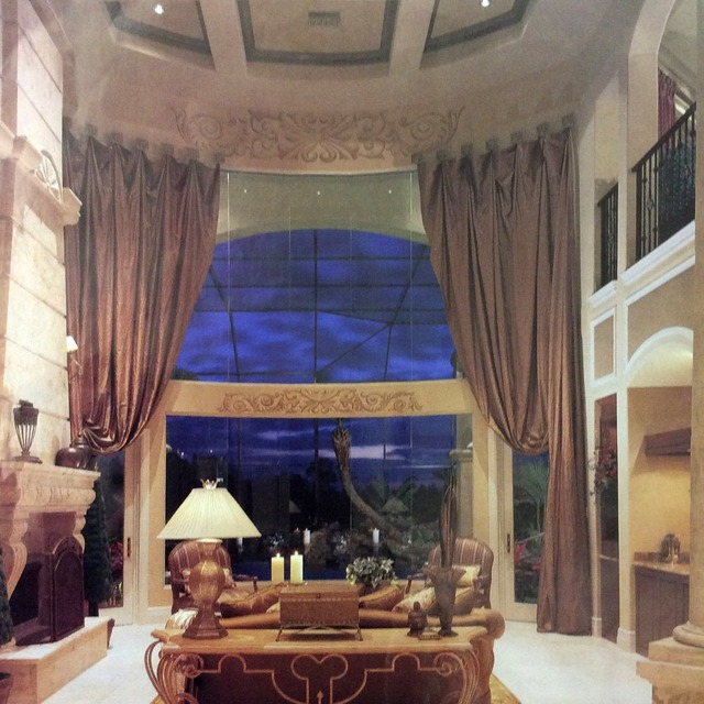 Antike Luxus magnetische vorhang für wohnzimmer Große Fenster 590 CM ...