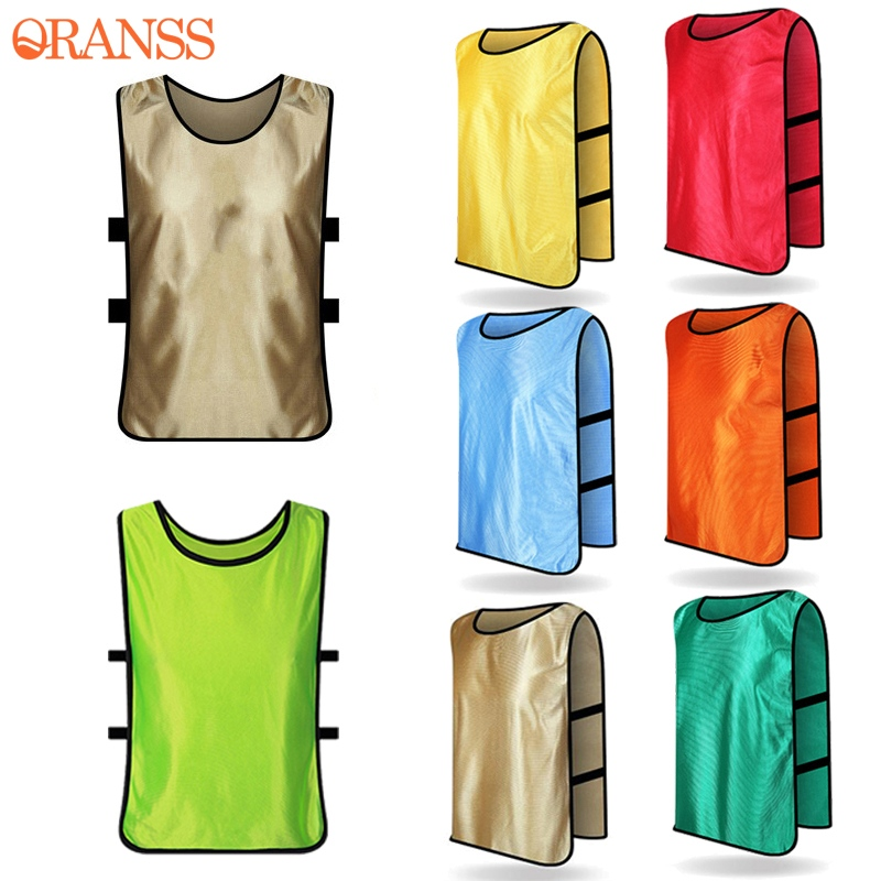 Football Soccer Team Training Uniform Scrimmage Vests for Man Soccer Football Adult Sports Pinnies Jerseys Accessory Plus Size