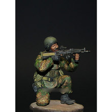 [tuskmodel] 1 35 scale resin model kit Modern Russian Soldiers resin figures Squatting(China)