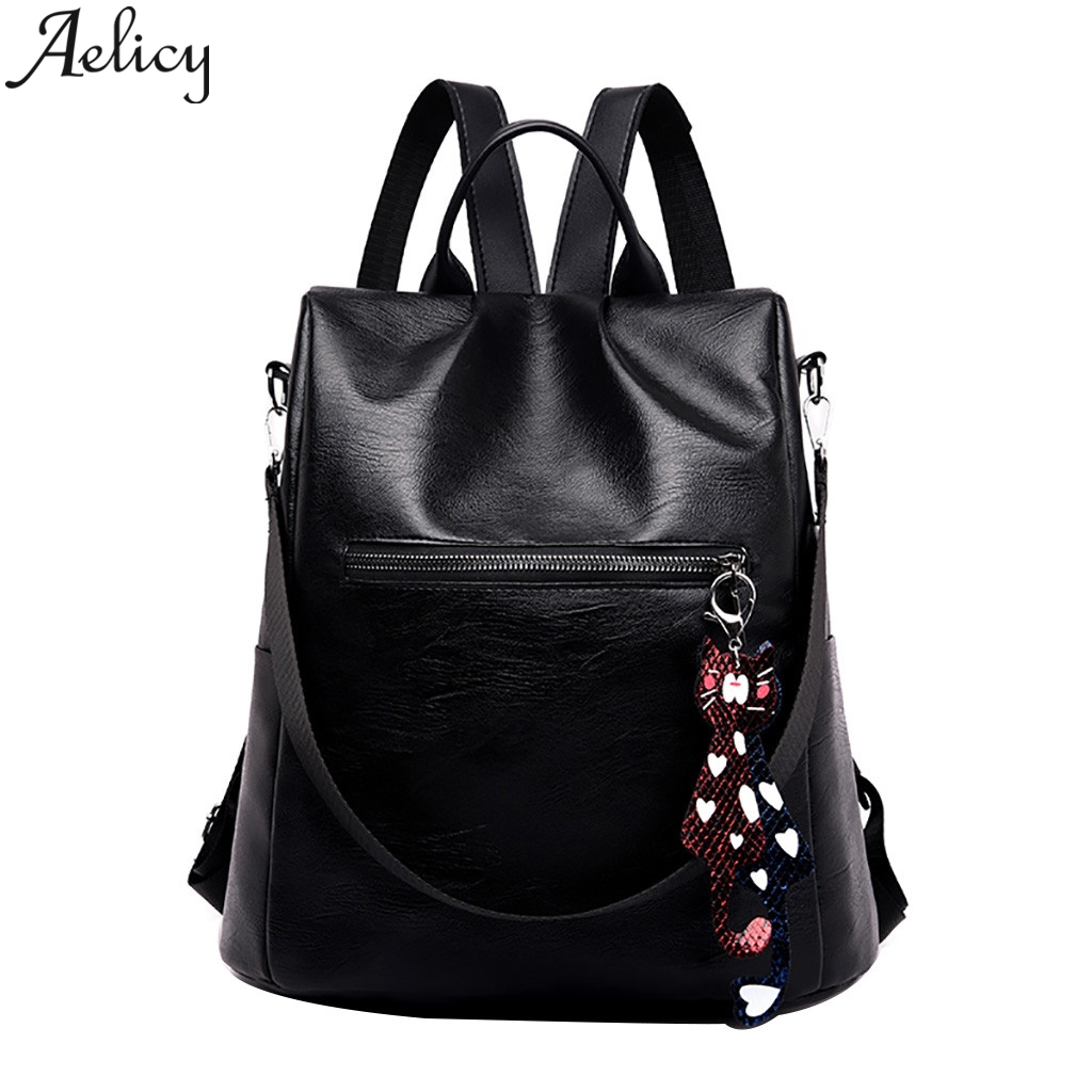 Aelicy 2019Women Color Matching Wild Fashion Leisure Travel Bag Student Bag Backpack Female Travel Large Capacity High QualityAelicy 2019Women Color Matching Wild Fashion Leisure Travel Bag Student Bag Backpack Female Travel Large Capacity High Quality