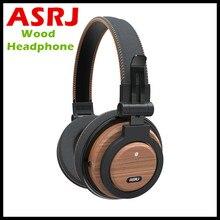 Headphones ASRJ WT-01 Detachable Cable Eco Friendly Over Ear Foldable Wireless Genuine Wood Mic Headphone Bluetooth V4.1 Headset