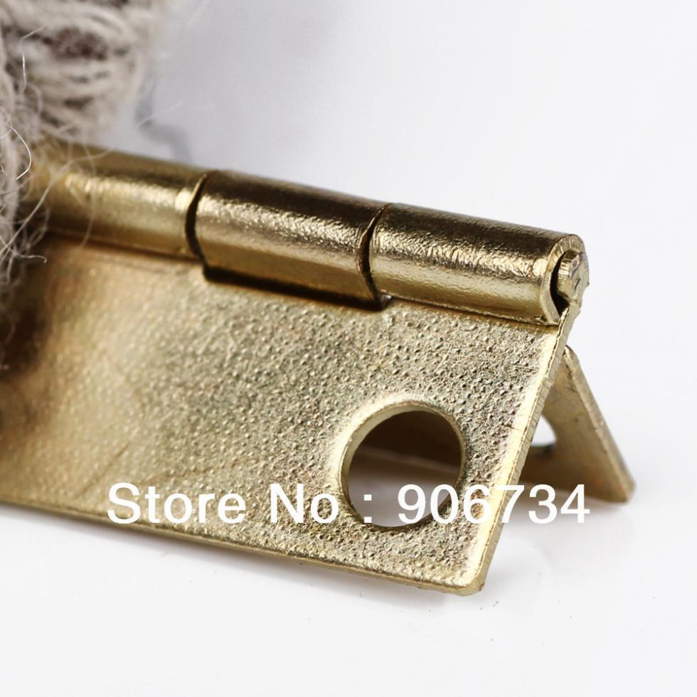 High Quality 10Pcs Door Butt Hinge Mini Iron Hinges Cabinet Drawer on Sale New Free Shipping
