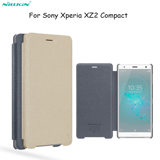 new style a27ac cd689 US $8.25 22% OFF|Flip cover For Sony Xperia XZ2 Compact case Nillkin  sparkle sleep wake/up leather case protectice For Xperia XZ2 Compact  cover-in ...