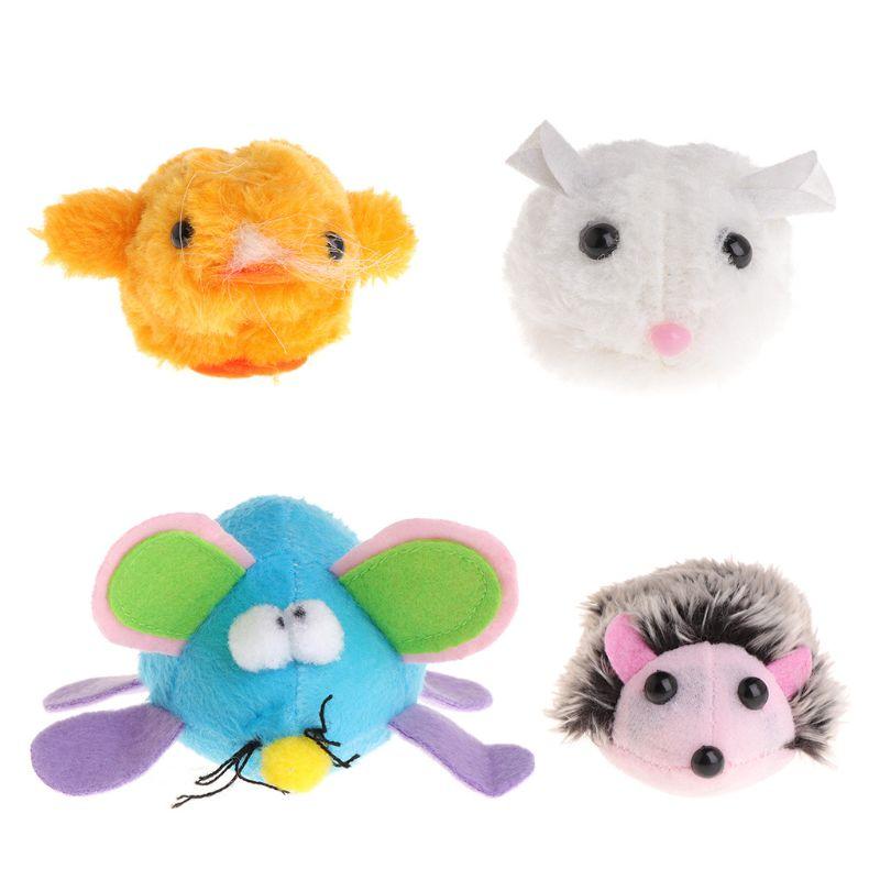 Pet Toys Plush Simulated Animal Pulling Tail Shake Interactive Cat Kitten Funny