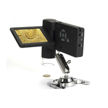 """Best Buy High Quality 3"""" LCD Display screen 500X Mobile Digital Microscope with 8 LED Lamp 5 MP Camera Foldable USB Portable"""