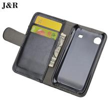 J&R Brand Luxury Leather Flip Case For Samsung Galaxy S Plus i9001 i9000 Cover Wallet Stand and Card Holder 9 Colors Available