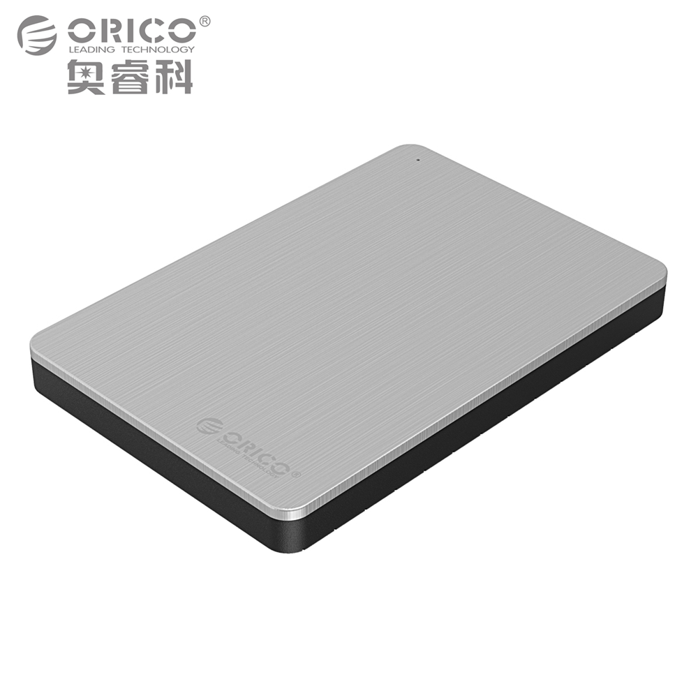 ORICO Aluminum Hard Drive Enclosure USB3.0 5Gbps 2.5 inch Support 7mm & 9.5mm