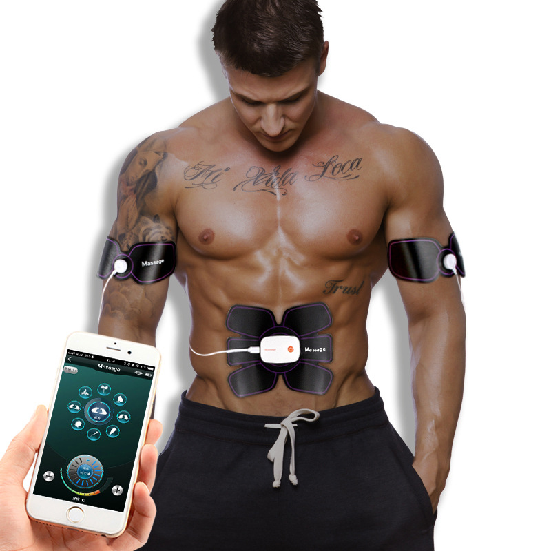 Bluetooth Control Tens Muscle Relax Trainer Rechargeable ABS muscle Stimulator Massager Electric For The Body Pulse Fitness in Massage Relaxation from Beauty Health