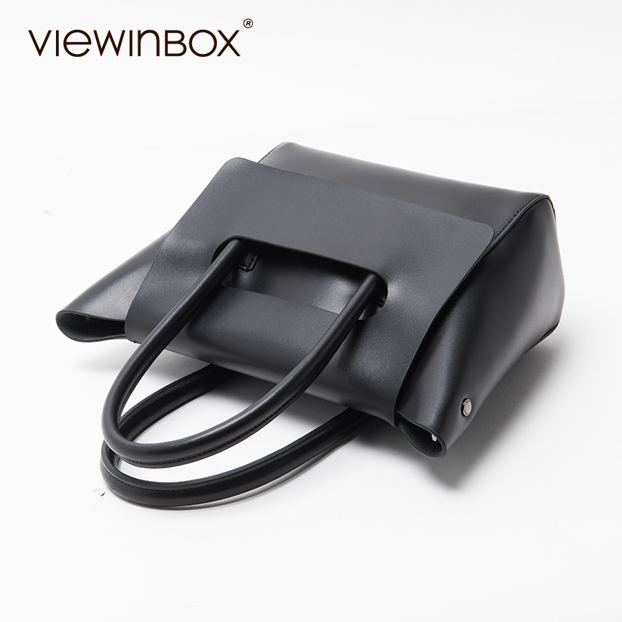 Viewinbox Mini Tote Bag Women s Famous Brand Soft Cattle Leather Small  Handbags Casual Style Crossbody Messenger Bag -in Top-Handle Bags from  Luggage   Bags ... 21bdd454690d2