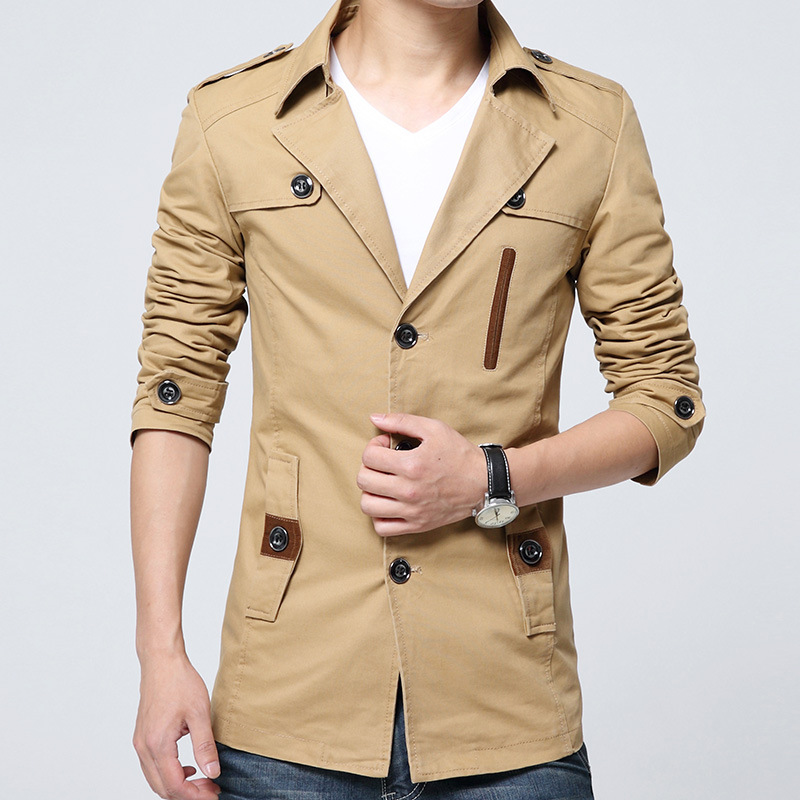 2016 New Arrival Brand Clothing Men s Fashion Casual Spring Autumn Jacket Cotton Turn down Collar