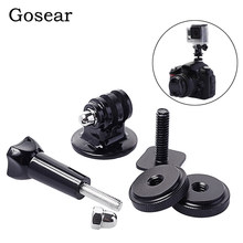 Gosear rotule fixation selle monopode support Tripode support adaptateur pince pour Gopro Go Pro Hero 5 4 3 2 Xiaomi yi 2 4 k SJ4000(China)