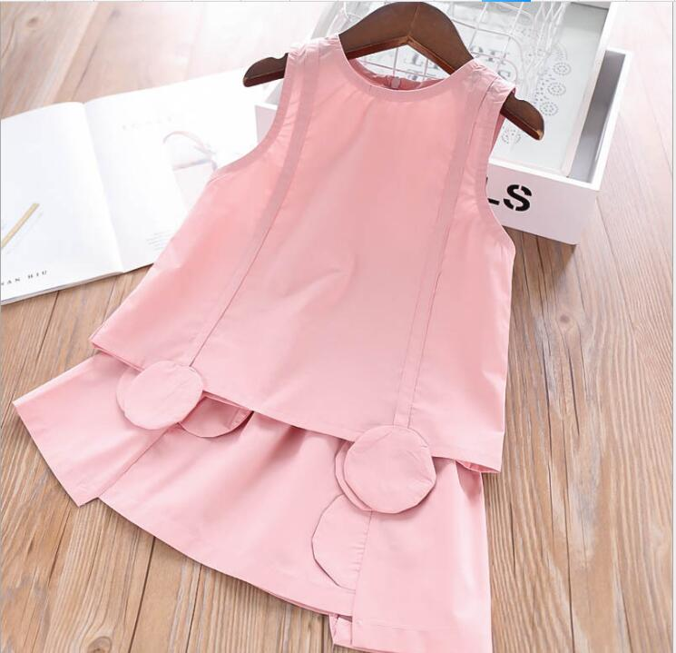 boutique kids clothing sets 2019 summer girls boutique outfits cotton tops + skirts 2 pcs sets fashion baby girl clothes