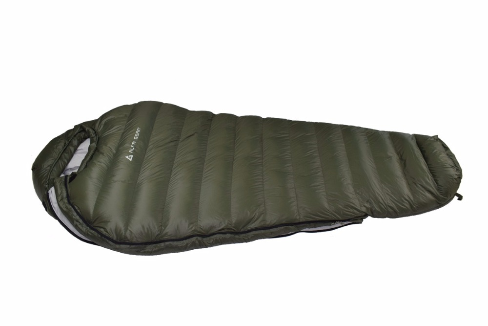 Winter Sleeping Bag Cold Temperature For Army Green