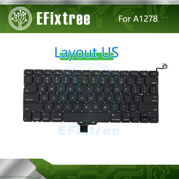 """10 pcs /Lot New For Macbook Pro 13"""" A1278 US Keyboard Replacement 2009 2010 2011 2012  Year New EMC 2326 2351 2419 2555 2554"""