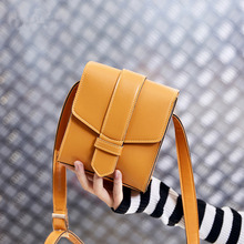 Female bag 2019 spring and summer simple mobile phone cute shoulder slung vertical small square bag leather handbag цена в Москве и Питере