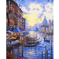 MYT Rivers Frameless Digital DIY Oil Painting By Numbers Kits Wall Art Picture Home Decor Acrylic